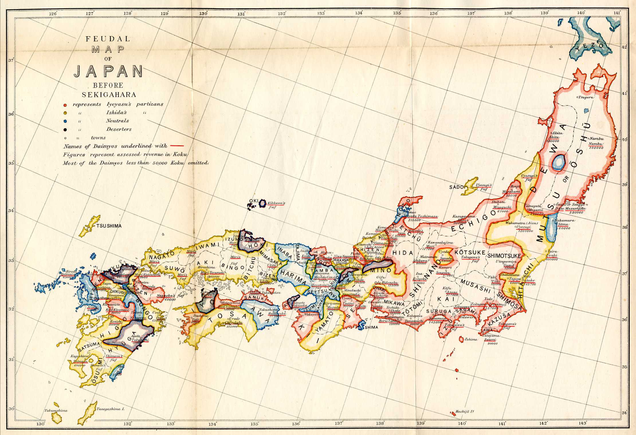 Historical Maps Of Japan - Japan map labeled